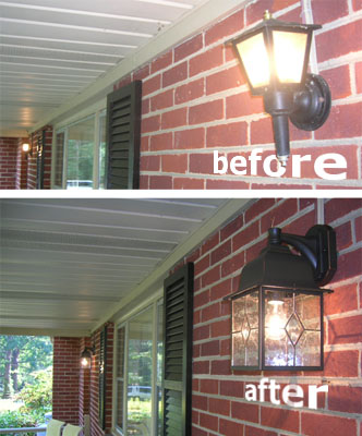 Updating Our Exterior Porch Lights With Something New
