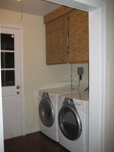 Updating Our Laundry Nook With Bamboo Blinds