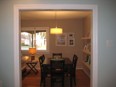Adding A Pendant Light To Create A New Eating Zone
