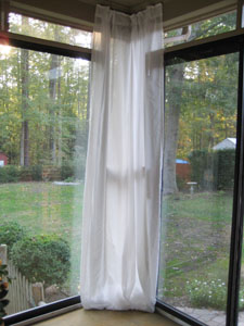 Beachy Keen: Adding Curtains To The Sunroom