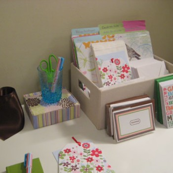 Making A Craft Corner For Writing Letters & Wrapping Gifts