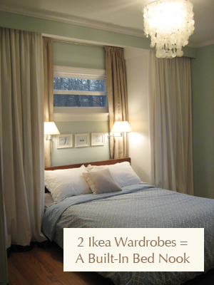 Curtains Ideas chevron curtains ikea : Add Storage Space With Bedroom Built-Ins And Romantic Ambiance ...