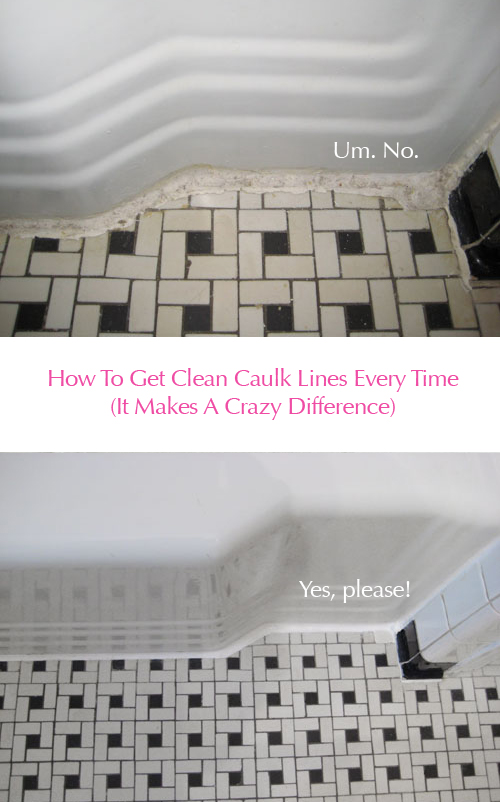 Clean Vintage Bathroom Tiles Caulk More Cleanly With Painter S Tape