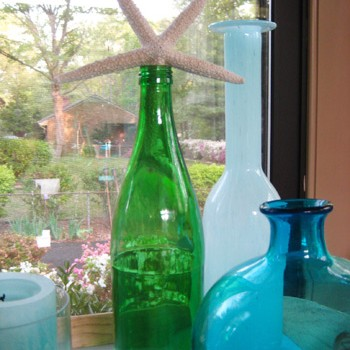 Using Glass Bottles For Sweet Sunroom Decor