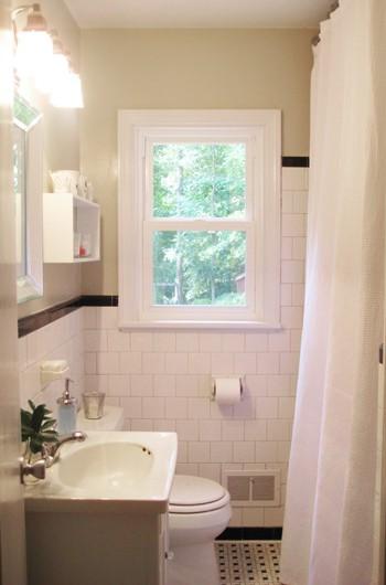 Raising Our Bathroom's Shower Curtain For A Loftier Look