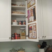 Adding A Pinboard For Recipes Inside Your Kitchen Cabinet