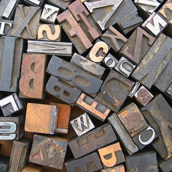 Our Love Affair With Wood Printing Block Letters