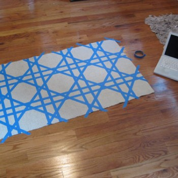 tape-and-paint-a-rug