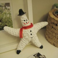 How To Make Santa & Snowman Ornaments From Starfish