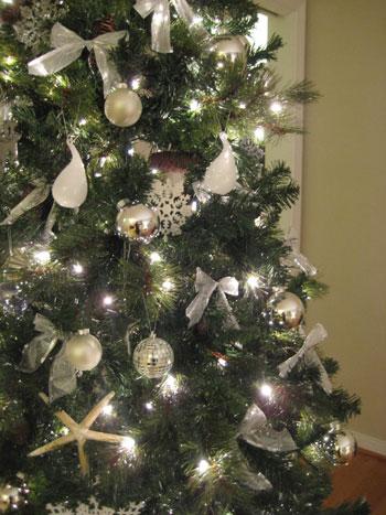 Our Silver & White Christmas Tree