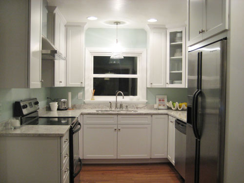 Charmant Fully Remodeled Kitchen After Picture Renovated White Kitchen