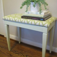 Painting And Reupholstering An Old $7 Thrift Store Bench