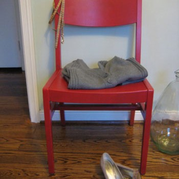 Thrift Store Chair Rescue: Sanding & Painting A Modern Chair
