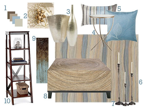 Lindsey Mood Board Living Room Blue And Cream