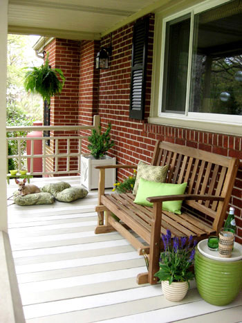 How To Paint A Wood Deck Or Front Porch (We Did Subtle Stripes)