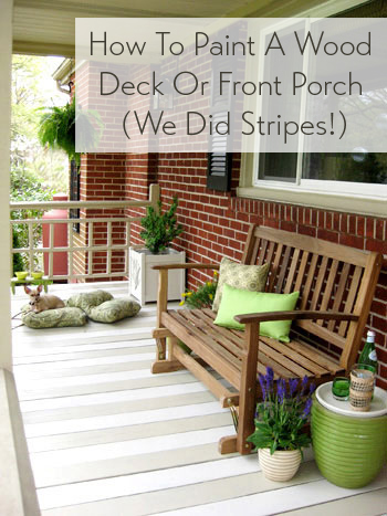 How To Paint A Wood Deck Or Front