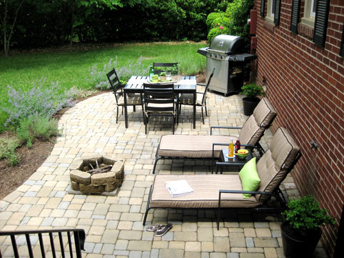 Our $319 Patio Makeover (Complete With Loungers & A Fire Pit!)