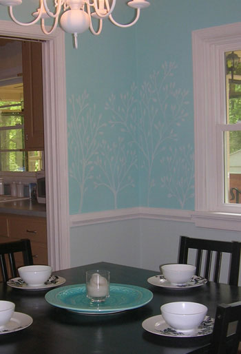 We Drew Leafy Branches On Our Dining Room Wall With Chalk For Instant Texture And Fun Heres How