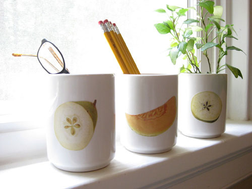 Fresh Fruit: Making Cute Decoupaged Vases & Planters