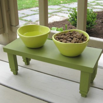 How To Make A Dog Food Station & Side Table Planter