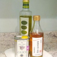 Easy Upgrade: Put Pretty Olive Oil Bottles On A Platter