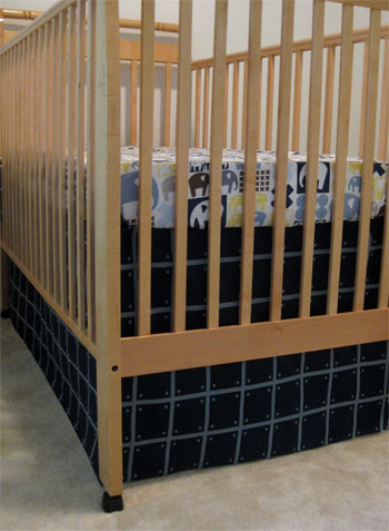 How To Make A No-Sew Crib Skirt (Video Tutorial)