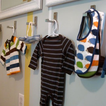Adding Fold-Down Wall Hooks For Clothes In A Nursery