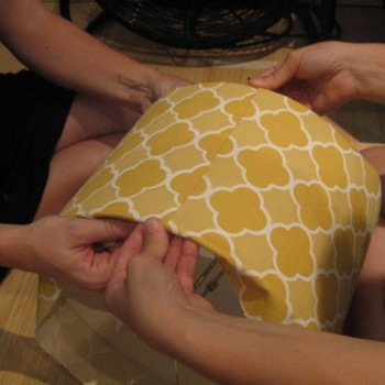 How To Recover A Lamp Shade With Patterned Fabric