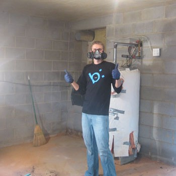 Tackling The Basement: Sealing Cinderblocks With Drylok