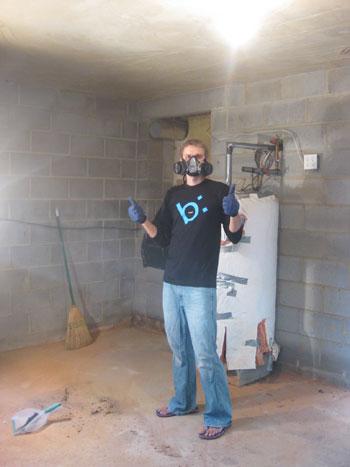 Tackling The Basement: Sealing Cinderblocks With Drylok