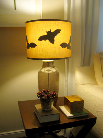 Halloween Fun: Making Paper Bats For Our Lamp Shades