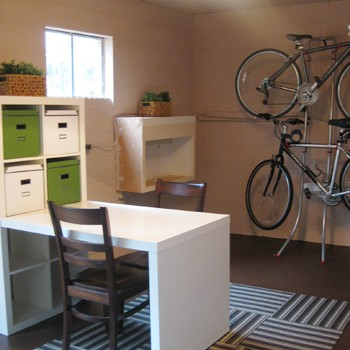 Basement Update: Hanging Our Bikes And Adding A Shade