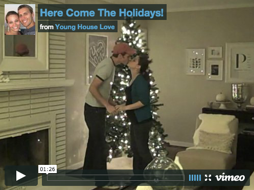 Decorating Our Silver Christmas Tree In Fast Motion