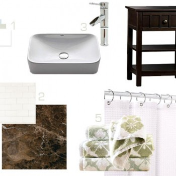 Sourcing Tile, A Vanity, & Other Bathroom Accessories