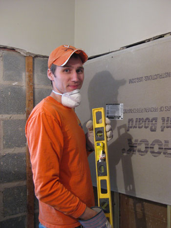 Hanging Cement Board, Drywall, & Fixing The Subfloor