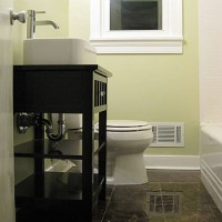 How To Turn A Side Table Into A Bathroom Vanity