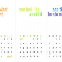Making A Homemade Calendar (Free Printable Included)