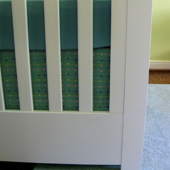 Nursery Progress: How To Make A No Sew Crib Skirt