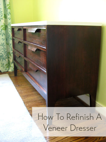 how to refinish a veneer dresser. Nursery Progress  How To Refinish A Veneer Dresser   Young House Love