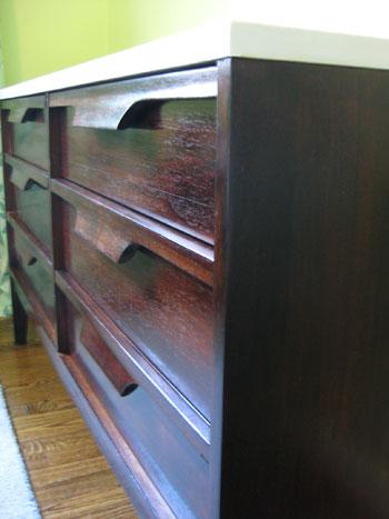 Nursery Progress: How To Refinish A Veneer Dresser