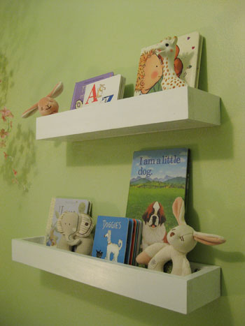 How To Make Wall Shelves For Books In The Nursery