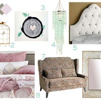 Wedding Week III: A Violet, Mint, & White Bedroom Mood Board