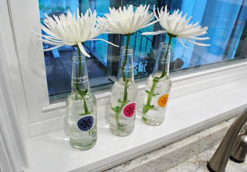 Budget Blooms: Some Sweet Izze Soda Bottle Vases