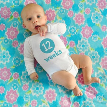 Weekly Baby Pictures: How We Take Them & Photoshop The Number On The Onesie