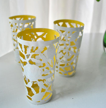 Turning Small Metal Cups Into Two-Tone Votive Holders
