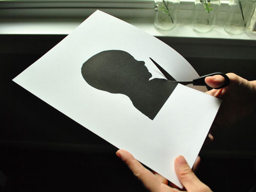 Wall Art Idea: How To Make A Silhouette Of Your Baby's Profile