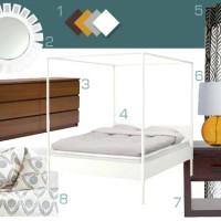 Mood Board Making: Dark Teal, Wood, & White Bedroom