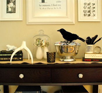 Halloween Decorating Ideas: Crows, Candles, Skull Photos & More