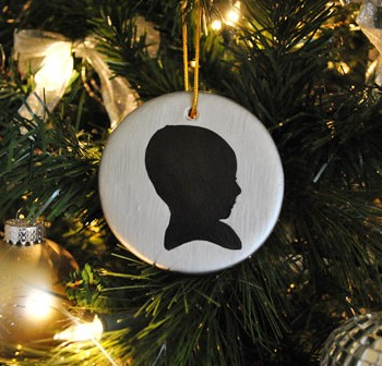 "How To Make Two ""Baby's First Christmas"" Silhouette Ornaments"