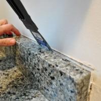 Removing The Side Splash & Backsplash From Our Bathroom Sink